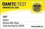 Result at ÖAMTC in the test of 11/2016: Cybex Sirona M2 i-Size