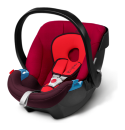 Cybex Aton in Rumba Red - dark red, Isofix possible