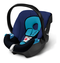 Cybex Aton in Blue Moon - navy blue, Isofix possible