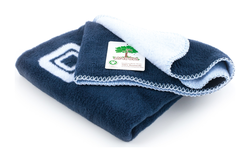 Moon BIO Cuddle Blanket baby blue with navy