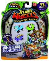 Giochi Preziosi 70684081 - 3er SET Trash Pack Wheels Serie 3 mit je 4 Müllmonster Autos pro Pack