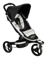 BabyZen ZEN Recaro Edition with seat cushion in grey and pink and footmuff in pink