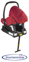 Storchenmühle Twin 0+ on Isofix base