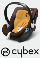Cybex Aton 3 in Candied Nuts - brown, Isofix possible