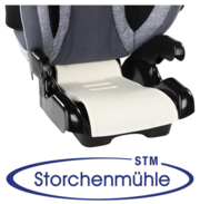 Storchenmühle Solar Seatfix close up of the memory foam seat