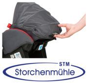 Storchenmühle Twin 0+ handle of the adjustable back