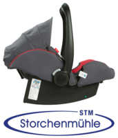 Storchenmühle Twin 0+ back adjusted for newborns