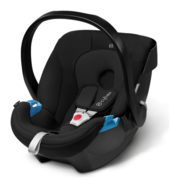 Cybex Aton in Pure Black - black, Isofix possible