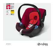 Cybex Aton in Rumba Red with logos