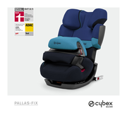 Cybex Pallas-fix in Blue Moon with logos
