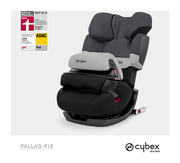 Cybex Pallas-fix in Gray Rabbit with logos