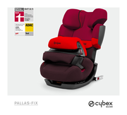 Cybex Pallas-fix in Rumba Red with logos