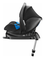 Recaro Privia on Recaros RECAROfix with its sun canopy up