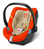 Cybex Aton 4 in Autumn Gold - burnt red, Isofix possible (2016)