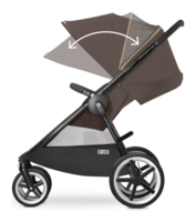Cybex Eternis M4 with XXL sun canopy
