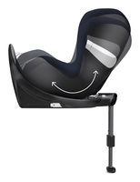 Cybex Sirona M i-Size in reboard configuration and reclined, view from the side