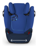Cybex Solution M-Fix has a wide and comfortable seat pillow
