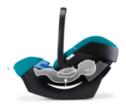 Goodbaby Artio with a removable newborn seat insert