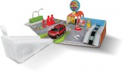 BBurago Open & Play SET 15630048, Car wash, with 1 car, 1:43