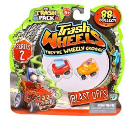 Giochi Preziosi 70682241 - 3er SET Trash Pack Wheels #2 mit jeweils 2 Müllmonster Autos pro Pack