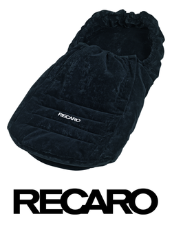 Recaro Young Profi Plus Fußsack in schwarz