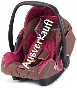 Storchenmühle Infant Carrier Twin 0+ in berry, Specail Offer, Isofix possible