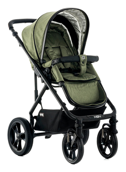 Moon LUSSO City with carry cot olive - fishbone