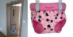 Door bouncer Hopsa Cat pink former Storchenmühle Hopsi