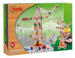 Baufix Super Kran with 158 Baufix wooden parts, item 13110420