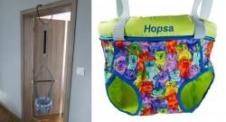 Door bouncer Hopsa Cat colorful blue, design 2021, former Storchenmühle Hopsi