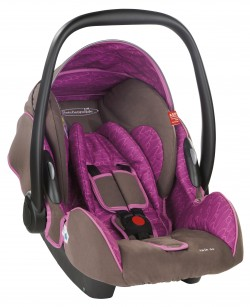 Storchenmühle Infant Carrier Twin 0+ in berry, Specail Offer
