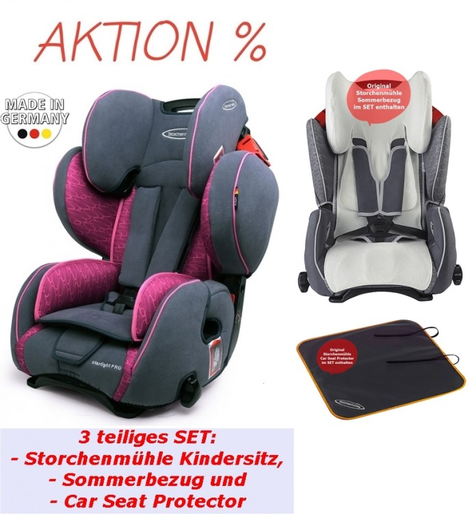 Seat Starlight Sp Pro In Rosy Bambinokids, Baby Car Seat Pad