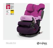 Cybex Pallas-fix in Purple Rain with logos