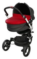 Abdeckung (wendbar) für Babywanne BabyZen YOGA in Red und Silver