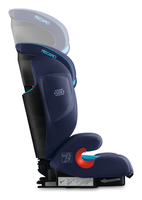 Recaro Monza Nova IS height adjustable headrest from the side