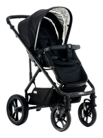 Moon LUSSO City with carry cot black - fishbone