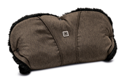 Moon Hand Muff for prams brown - fishbone