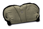 Moon Hand Muff for prams City olive - fishbone