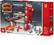 BBurago 15656096, Ferrari Double Lane Racing Garage, inkl. 2 Autos 1:64