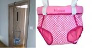 Door bouncer Hopsa Karo pink former Storchenmühle Hopsi