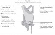 Concord Babytrage Wallabee in Cosmic Black, 2in 1 als Bauchtrage und Rückentrage nutzbar