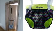 Door bouncer Hopsa pistachio colorful, design 2021, former Storchenmühle Hopsi